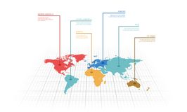 Vector illustration infographic of the World map Stock Photo