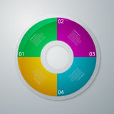 Vector illustration infographics circle with four quadrants.  Stock Images