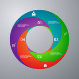 Vector illustration infographics circle with sectors stock illustration