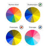 Vector illustration, infographics, color wheel, palette, normal Royalty Free Stock Photos
