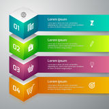 Vector illustration infographics 3d cube Royalty Free Stock Photo