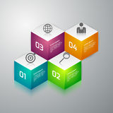 Vector illustration infographics 3d cubes.  Royalty Free Stock Image
