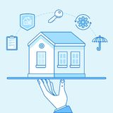 Vector illustration and infographics design elements - home insu Stock Images