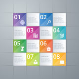 Vector illustration infographics eight options Stock Photo