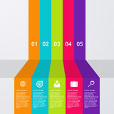 Vector illustration infographics five bars Royalty Free Stock Photography