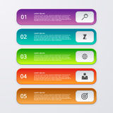 Vector illustration infographics five rectangles Royalty Free Stock Image