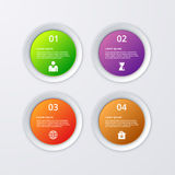 Vector illustration infographics four circles.  Stock Image