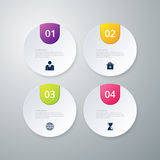 Vector illustration infographics four circles Stock Image
