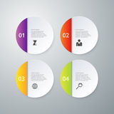 Vector illustration infographics four circles Royalty Free Stock Photo
