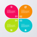 Vector illustration infographics four options Royalty Free Stock Photos