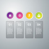 Vector illustration infographics four options Royalty Free Stock Photography