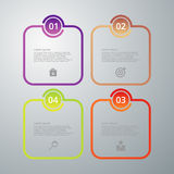 Vector illustration infographics four options Stock Photo