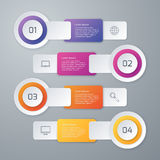 Vector illustration infographics four options Royalty Free Stock Image