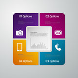 Vector illustration infographics four options . Paper square wit Royalty Free Stock Photos