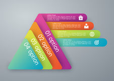 Vector illustration infographics four options pyramid Stock Image
