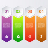Vector illustration infographics four options squares Stock Photography