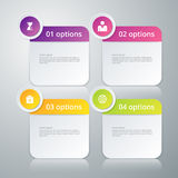 Vector illustration infographics four rounded rectangle Royalty Free Stock Image