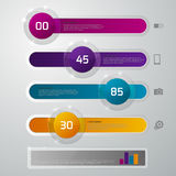Vector illustration infographics glass slider Stock Images