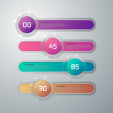 Vector illustration infographics glass slider.  Royalty Free Stock Photography