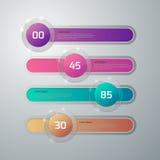 Vector illustration infographics glass slider Royalty Free Stock Photography