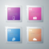 Vector illustration infographics glass squares with rounded corners Royalty Free Stock Images