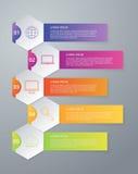 Vector illustration infographics of hexagons Stock Photos