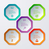 Vector illustration infographics of octagons Stock Photos