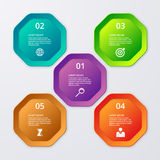 Vector illustration infographics of octagons Stock Images