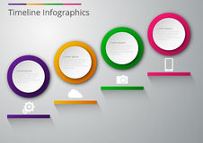 Vector illustration infographics paper circles with shadows.  Stock Photo
