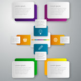 Vector illustration infographics paper rectangles Stock Images