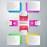 Vector illustration infographics paper rectangles.  Royalty Free Stock Image