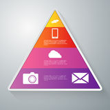 Vector illustration infographics paper triangle with sectors Royalty Free Stock Photo