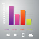 Vector illustration infographics 4 rectangles interest Stock Photography