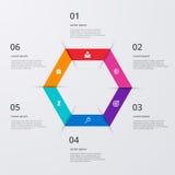 Vector illustration infographics six options Stock Photos