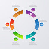 Vector illustration infographics six options Royalty Free Stock Image
