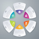 Vector illustration infographics six options Stock Image