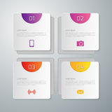 Vector illustration infographics squares with rounded corners stock illustration