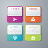 Vector illustration infographics squares with rounded corners royalty free illustration