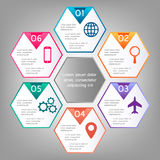 Vector illustration infographics template Royalty Free Stock Image