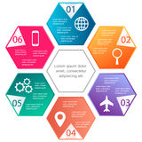 Vector illustration infographics template Stock Image