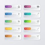 Vector illustration infographics ten options Stock Photos