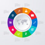 Vector illustration infographics ten options Royalty Free Stock Image