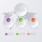 Vector illustration infographics three circles Royalty Free Stock Images