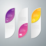 Vector illustration infographics three rectangles with rounded corners Stock Photos