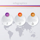Vector illustration infographics Timeline circle Royalty Free Stock Photography