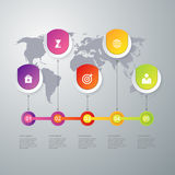 Vector illustration infographics timeline five options Stock Photography