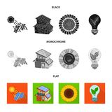 Vector illustration of innovation and technology  icon. Collection of innovation and nature  stock vector illustration. Isolated object of innovation and stock illustration