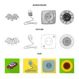 Vector illustration of innovation and technology  icon. Set of innovation and nature  stock vector illustration. Isolated object of innovation and technology royalty free illustration