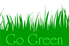 Vector illustration inscription go green. Stock Images