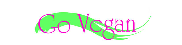 Vector illustration inscription go vegan. Royalty Free Stock Photo